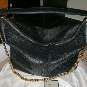 Gucci guccisimma hobo shoulder bag